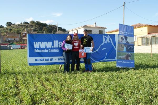 L'Aneta Migas amb els dos organitzadors del curs: l'Ángel Fontecha i una servidora, Roser Feliu