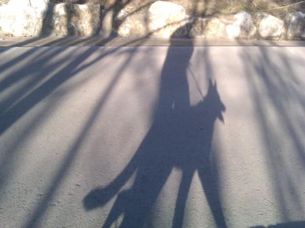 Una servidora passejant la Burka per la ciutat