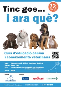 17a edició del curs d'educació canina i coneixements veterinaris. a BARCELONA!