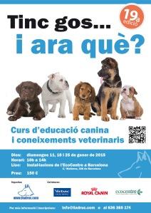 Propera edició del curs d'educació canina i coneixements veterinaris a BARCELONA