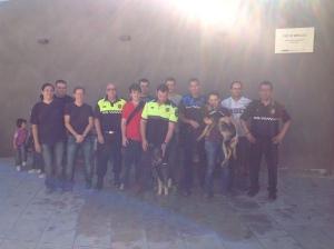 Els alumnes al curs avançat de guia caní policial