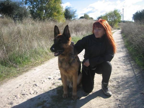 Gràcies a en Hulk, el seu gos ensinistrat, la Sandra, víctima de violència de gènere, pot tornar a somriure.