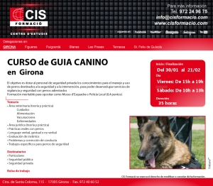 Inscripcions obertes pel nou curs de guia caní impartit per Lladruc.