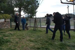 L'equip de TV3 amb en Jordi Pairó, en Connor i una servidora.