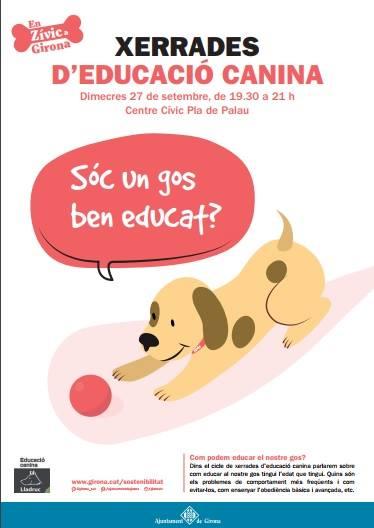 cartell educació canina ajuntament de girona